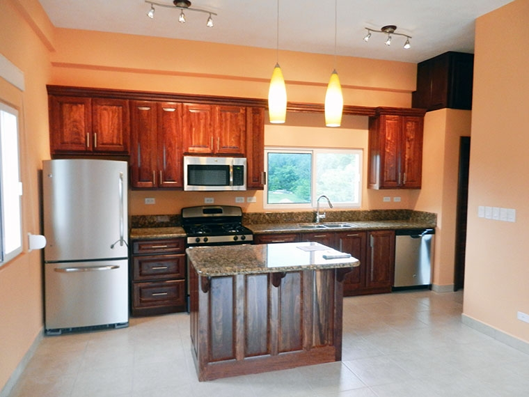 Kitchen inside the Condos
